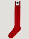 Red Long Ribbed Socks