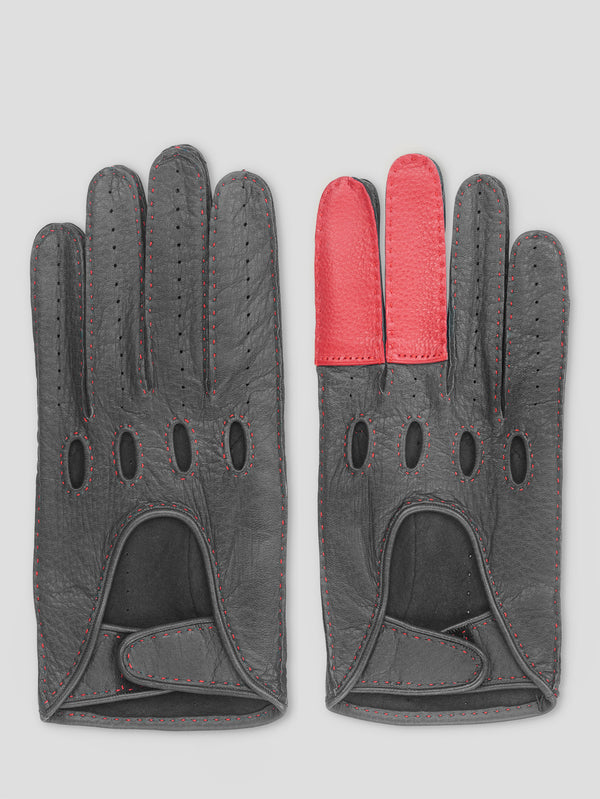 Black and Red Road Rage Gloves - Connolly England