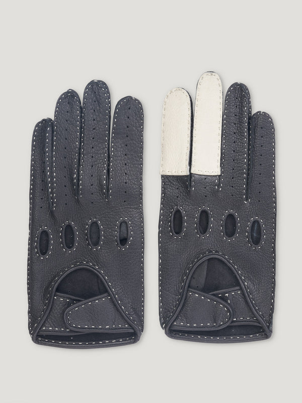 Black and White Road Rage Gloves - Connolly England