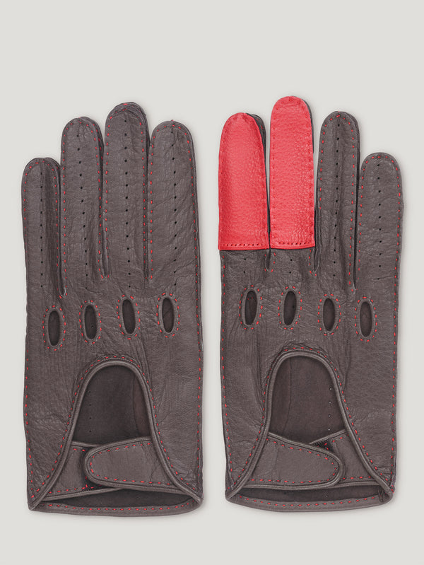 Brown and Red Road Rage Gloves - Connolly England