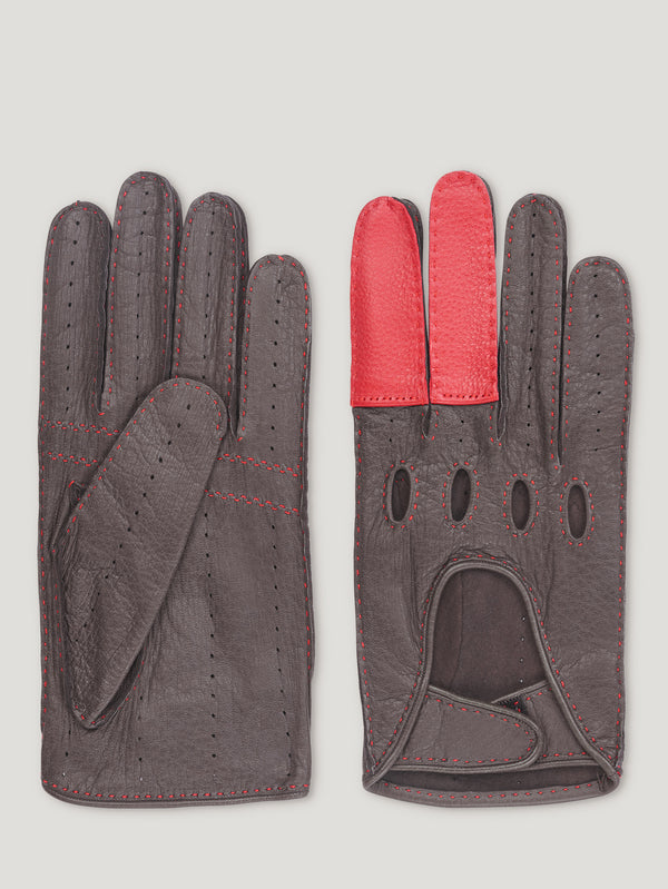 Connolly England | Brown and Red Road Rage Gloves