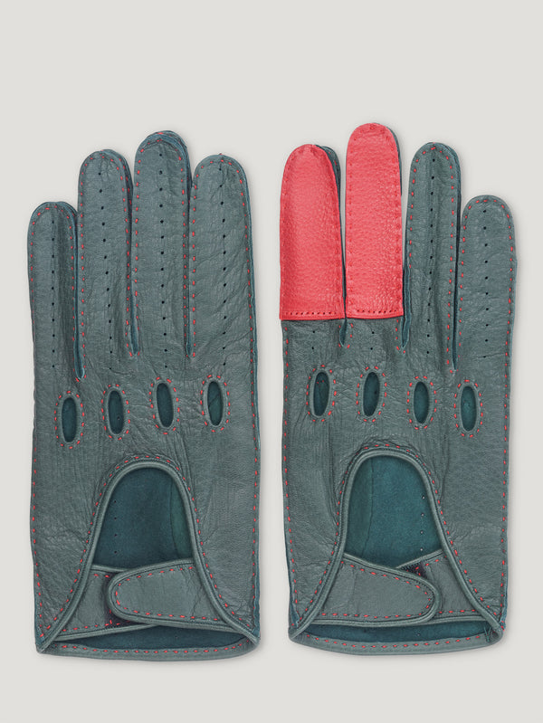 Red and Green Road Rage Gloves - Connolly England