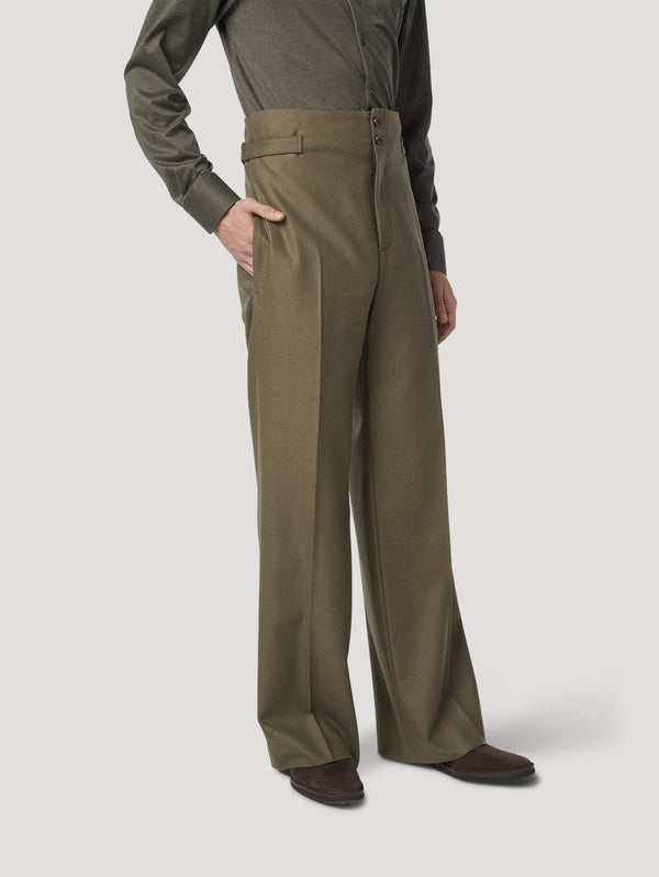 Connolly England | Khaki Sash Trouser