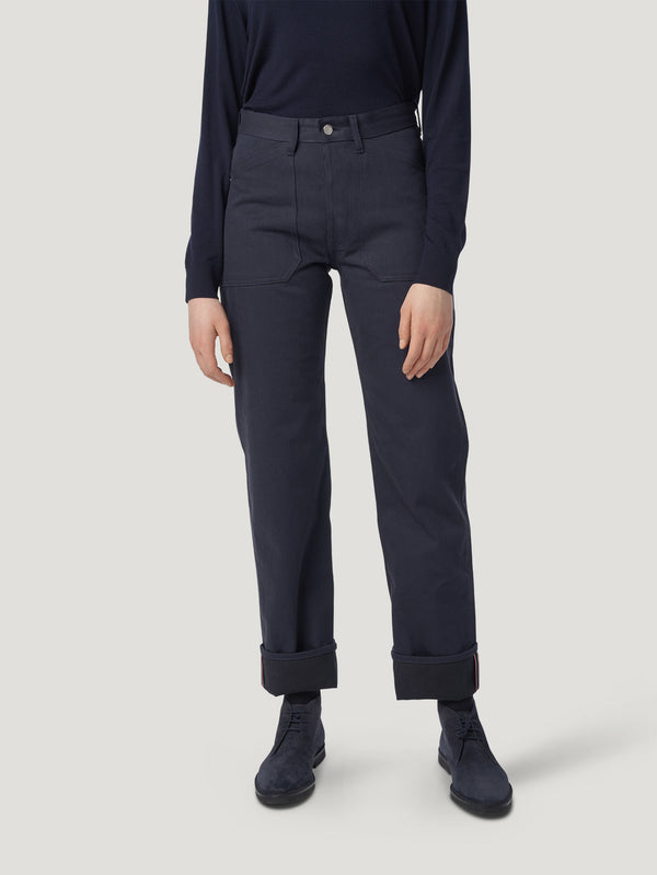 Blue Mechanic Jean Trousers - Connolly England
