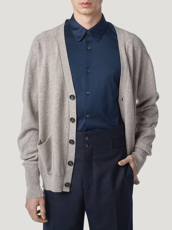 Connolly England | Stone Cashmere Art Cardi