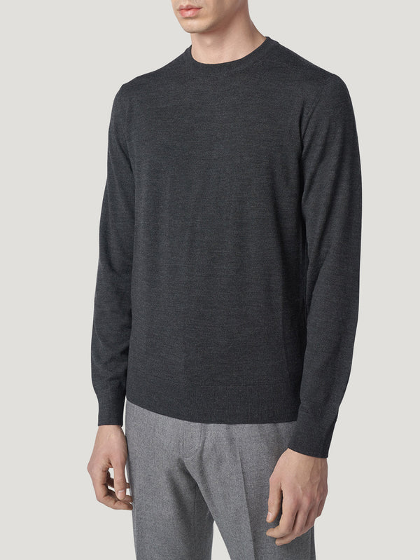 Connolly England | Charcoal Classic Crew Neck