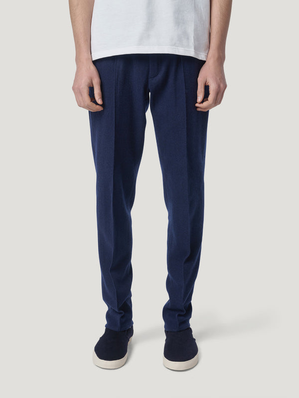 Navy Cashmere Drawstring Pants - Connolly England