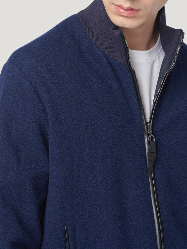 Connolly England | Navy Cashmere Lightweight Blouson
