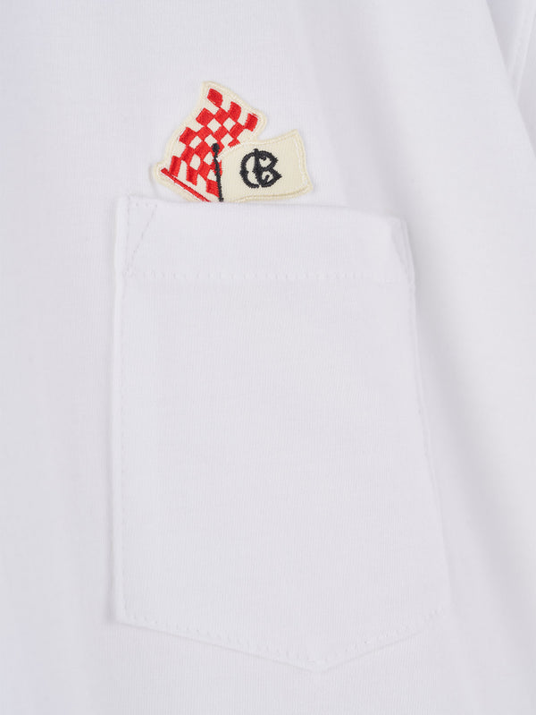 Connolly England | White Flag Pocket T-Shirt