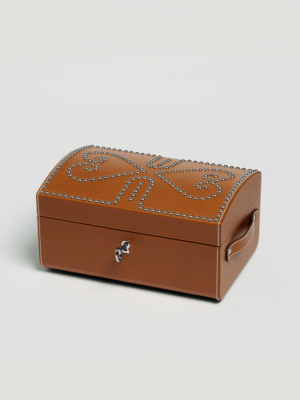Connolly England | Tan Nomadic Chest with Silver Studs 1904