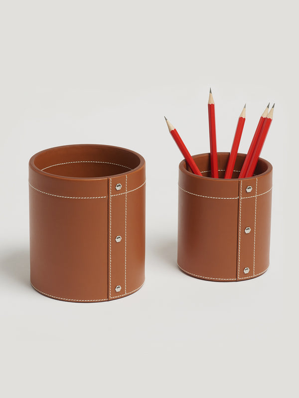 Connolly England | Tan Large Pen Pot