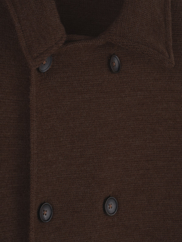 Connolly England | Brown Wool Short Double Breasted Mac