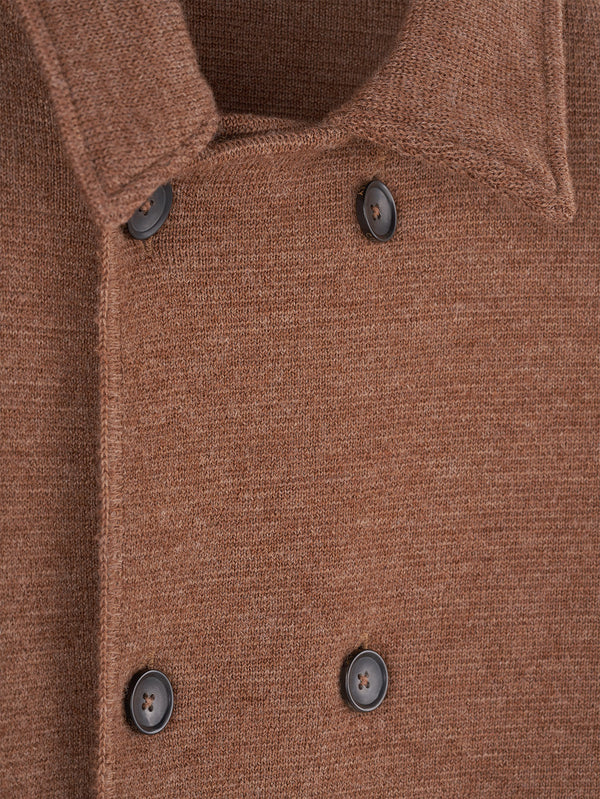 Connolly England | Vicuna Wool Short Double Breasted Mac
