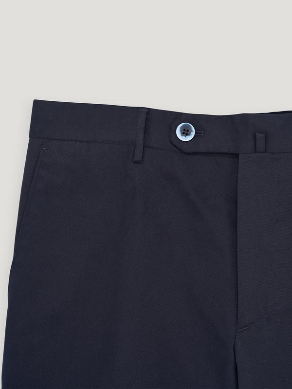 Navy Light Moleskin Twill Trousers