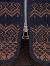 Navy/Vicuna Fairisle Drop Back Car Vest
