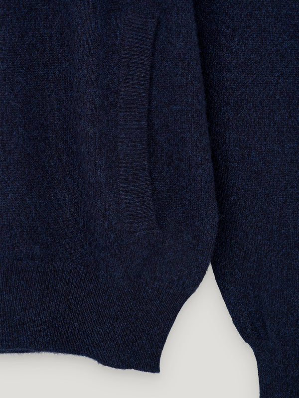 Blue Cashmere Hoodie