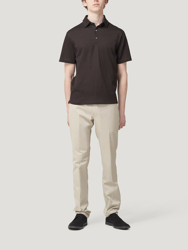 Dark Brown Polo Shirt