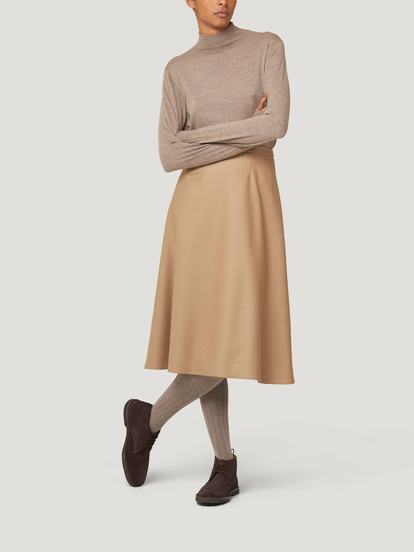 Taupe Classic Turtle Neck