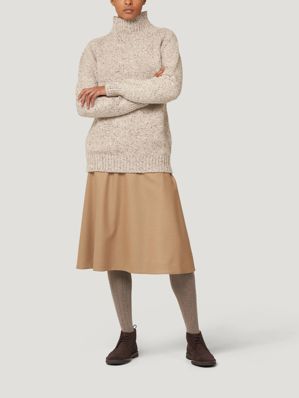 Beige Melange Weekend Sweater