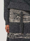Grey Melange Chunky Knit Skirt