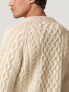 Natural Handknit Cable Sweater