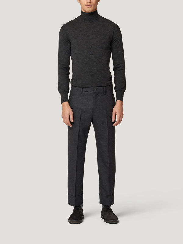 Charcoal Classic Turtle Neck