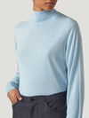 Light Blue Classic Turtle Neck
