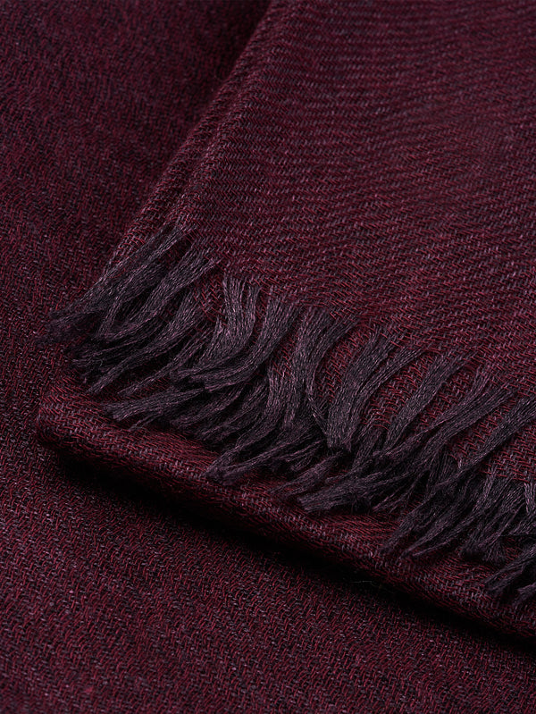 Connolly England | Burgundy Plain Scarf 85x200cm