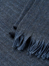 Connolly England | Denim Blue Plain Scarf 85x200cm