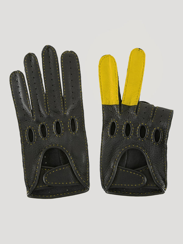 Connolly England | Black and Yellow Road Rage Gloves