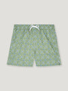 Green and Ecru Rosette Swimming Trunks - Connolly England