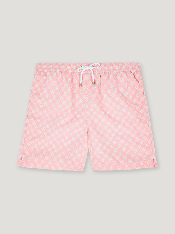 Connolly England | Pink and Ecru Rosette Swimming Trunks