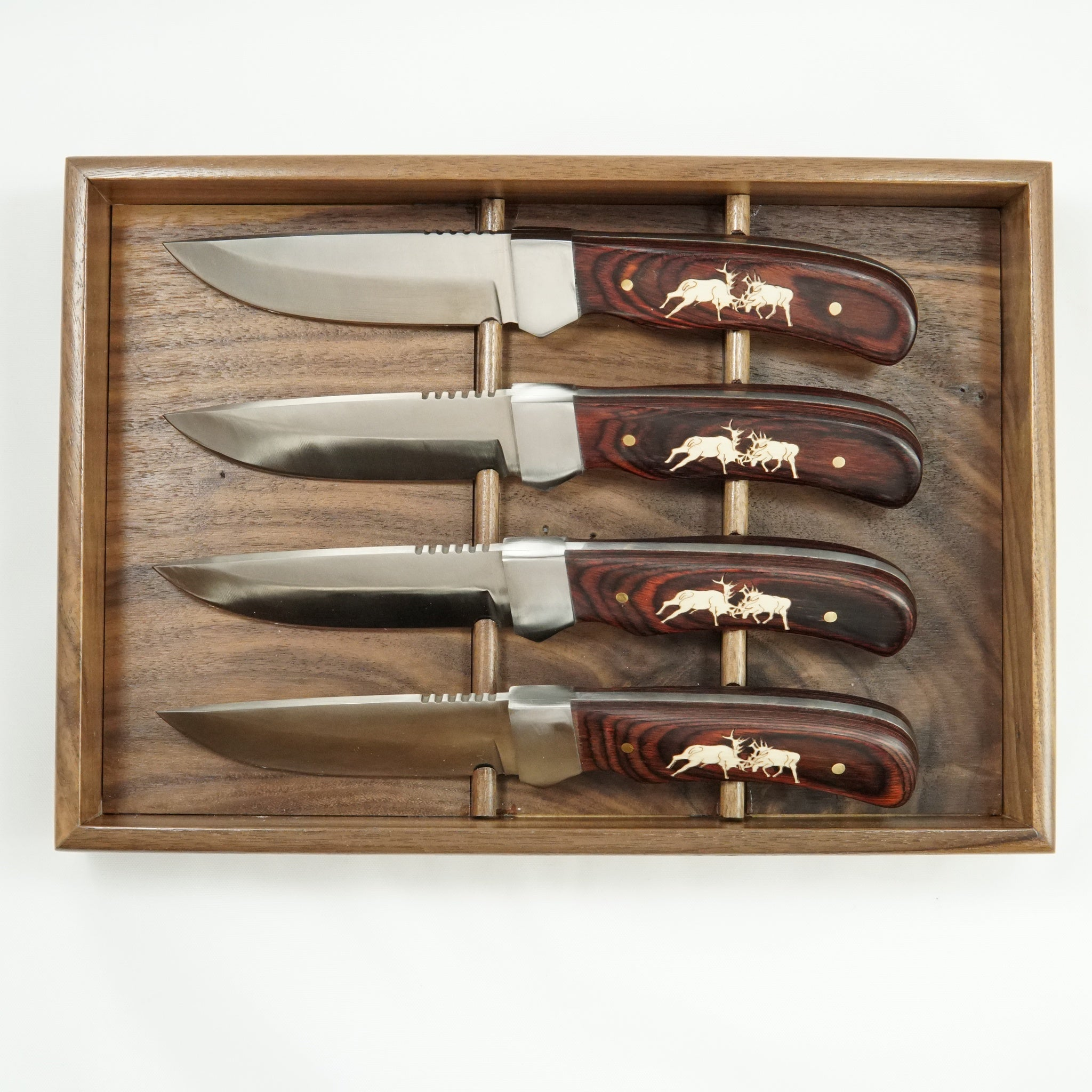 FIGHTING ELK STEAK KNIFE SET