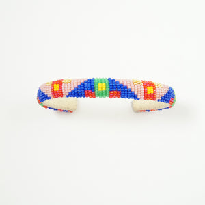 BR MULTI-COLOR  BEADED CUFF #10259