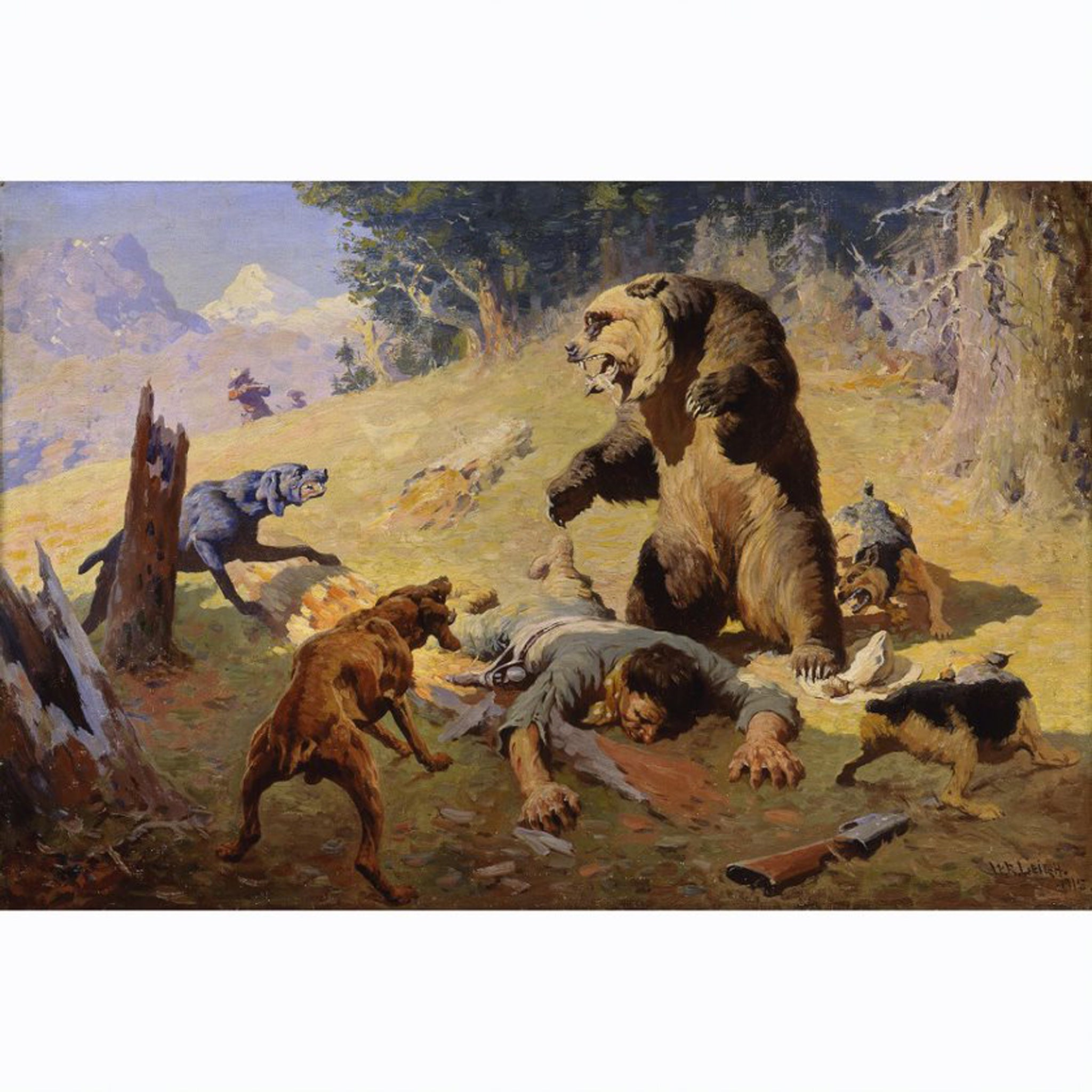 PR 62* GRIZZLY AT BAY BY WILLIAM R. LEIGH #31016672