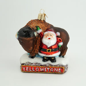 Santa with Yellowstone Bison