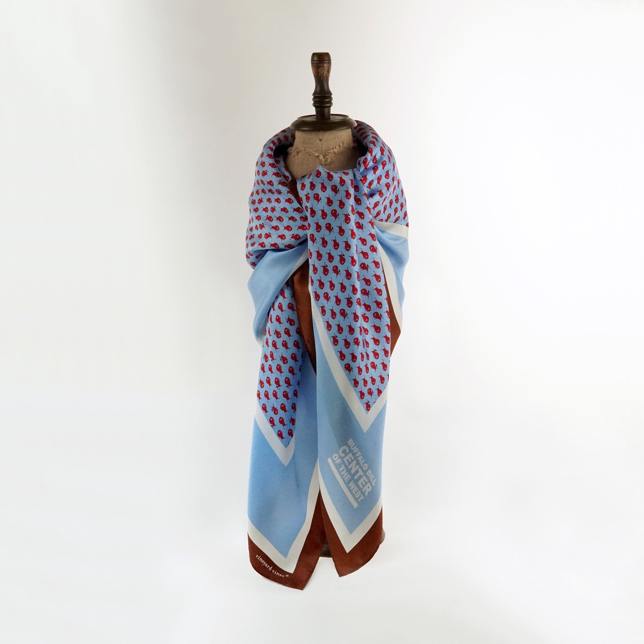 Light Blue Center of the West scarf
