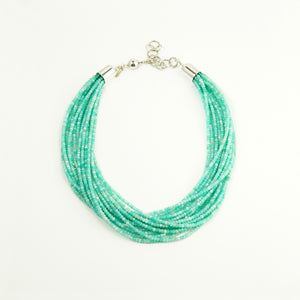 15-Strand Amazonite Bead Necklace by Artie Yellowhorse