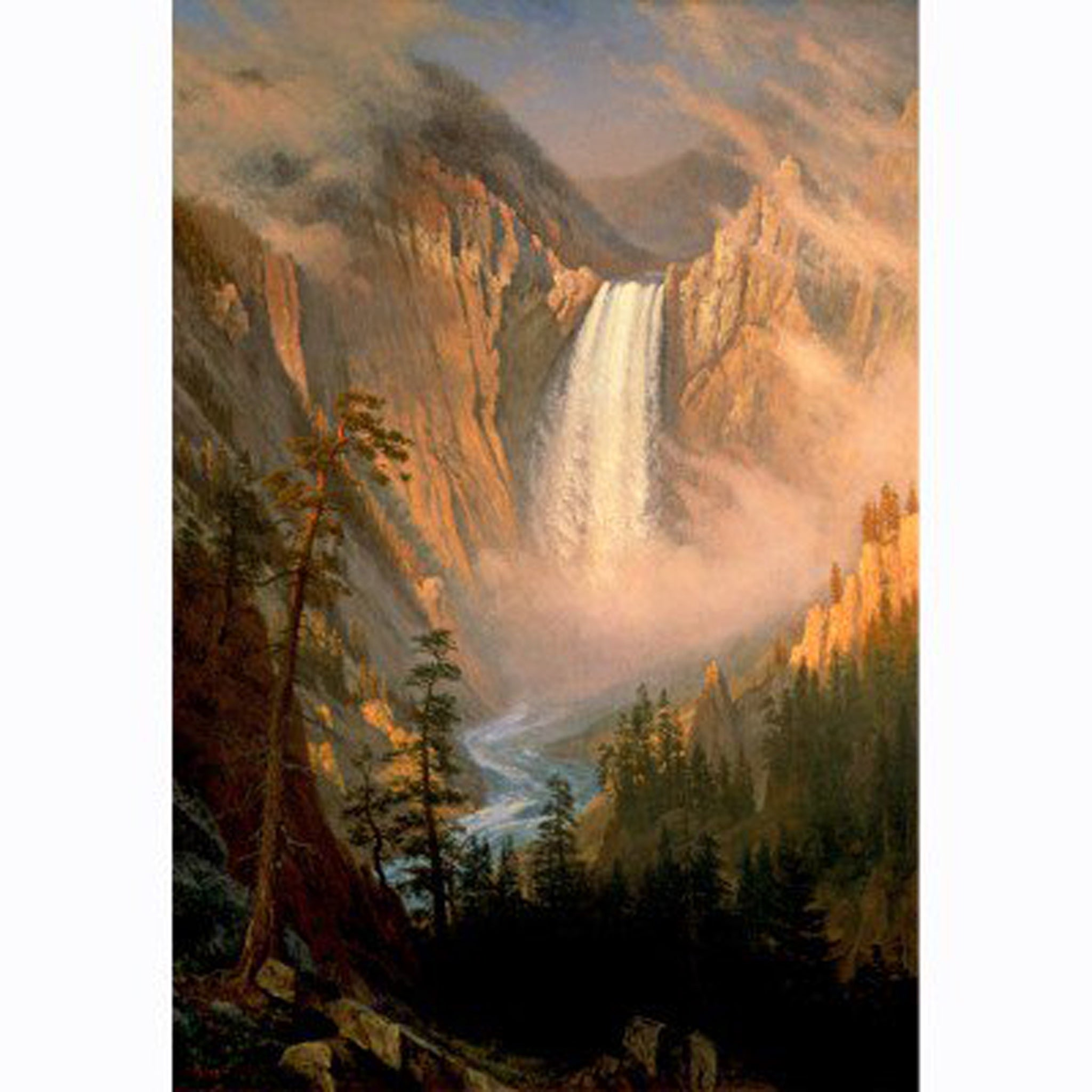 Yellowstone Falls by Albert Bierstadt