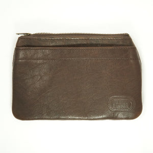 BUFFALO LEATHER ZIPPER CLUTCH