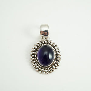 Amethyst Pendant by Artie Yellowhorse