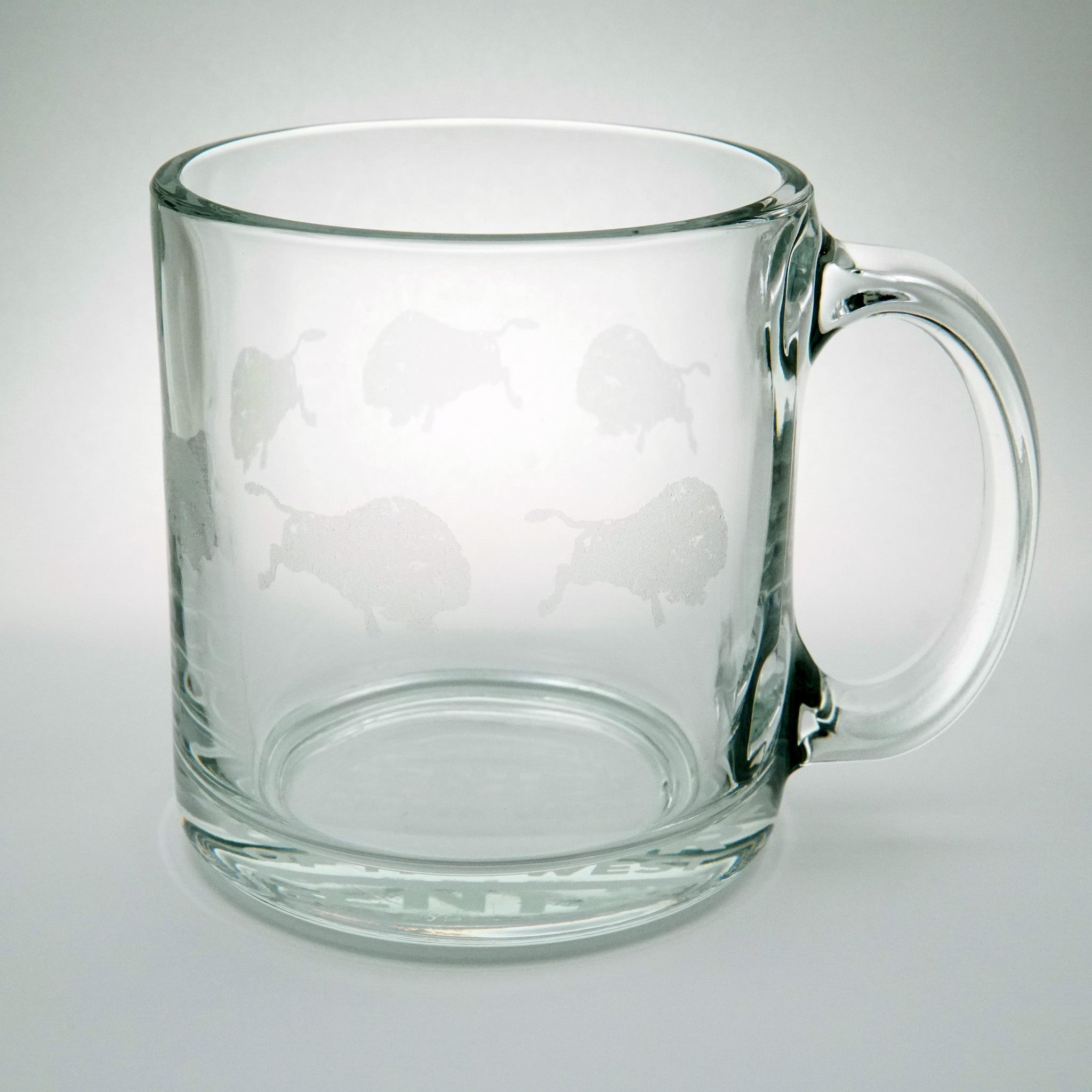 Etched Buffalo Coffee Mug
