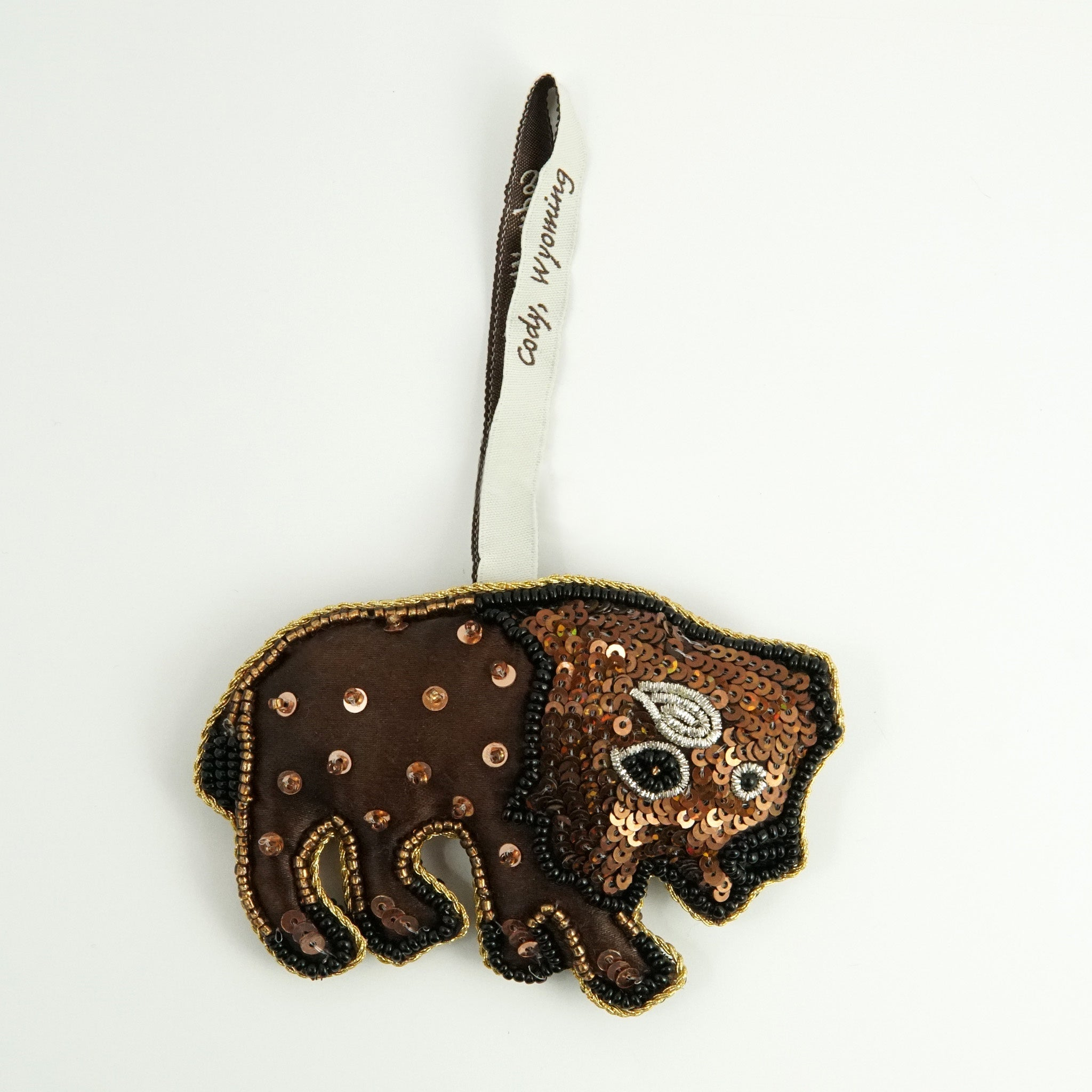Sequin Buffalo Ornament