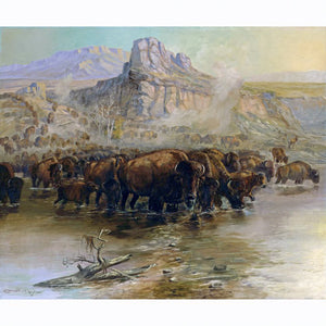 Where Great Herds Come to Drink by Charles M. Russell
