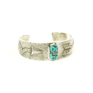 Kingman Turquoise Cuff by Kevin Yazzie