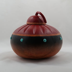 Red Top Too gourd by Jan Hammond - 11224
