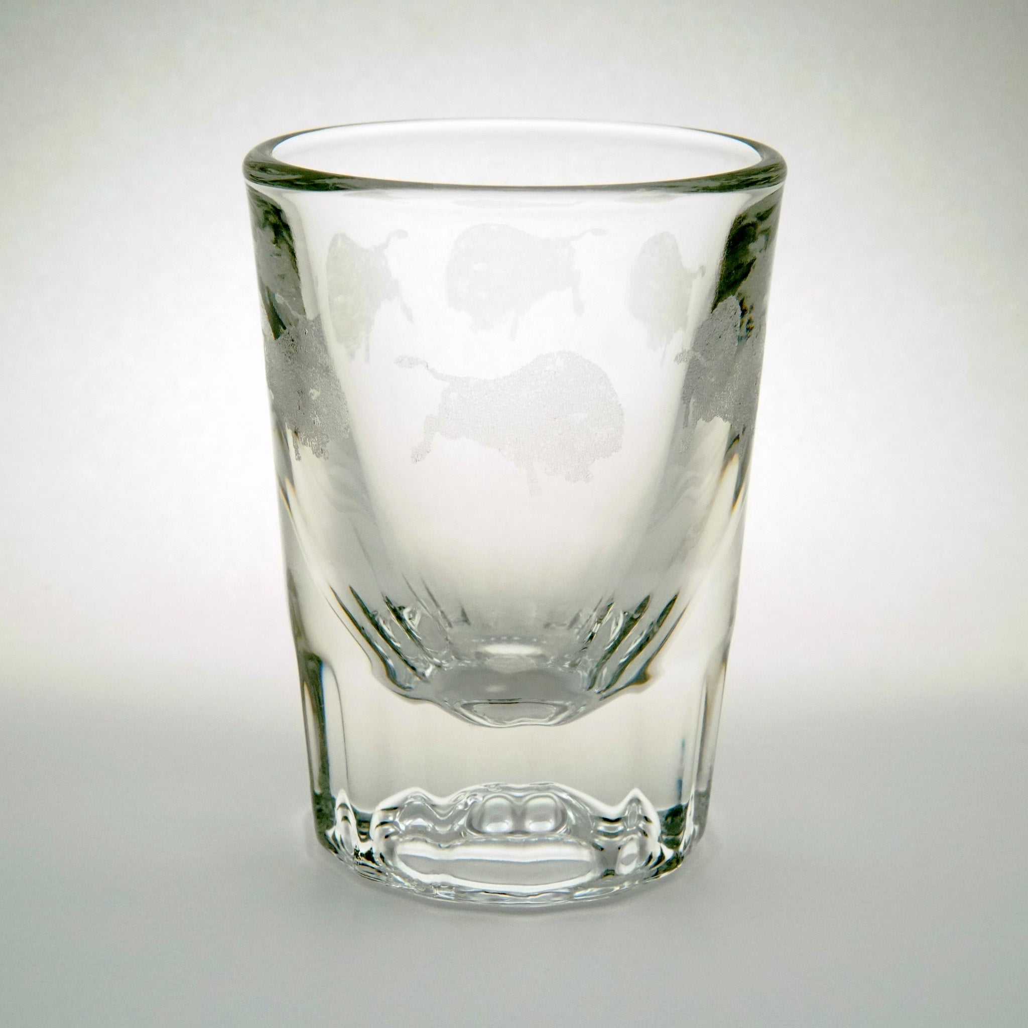 Etched Buffalo Shot Glass