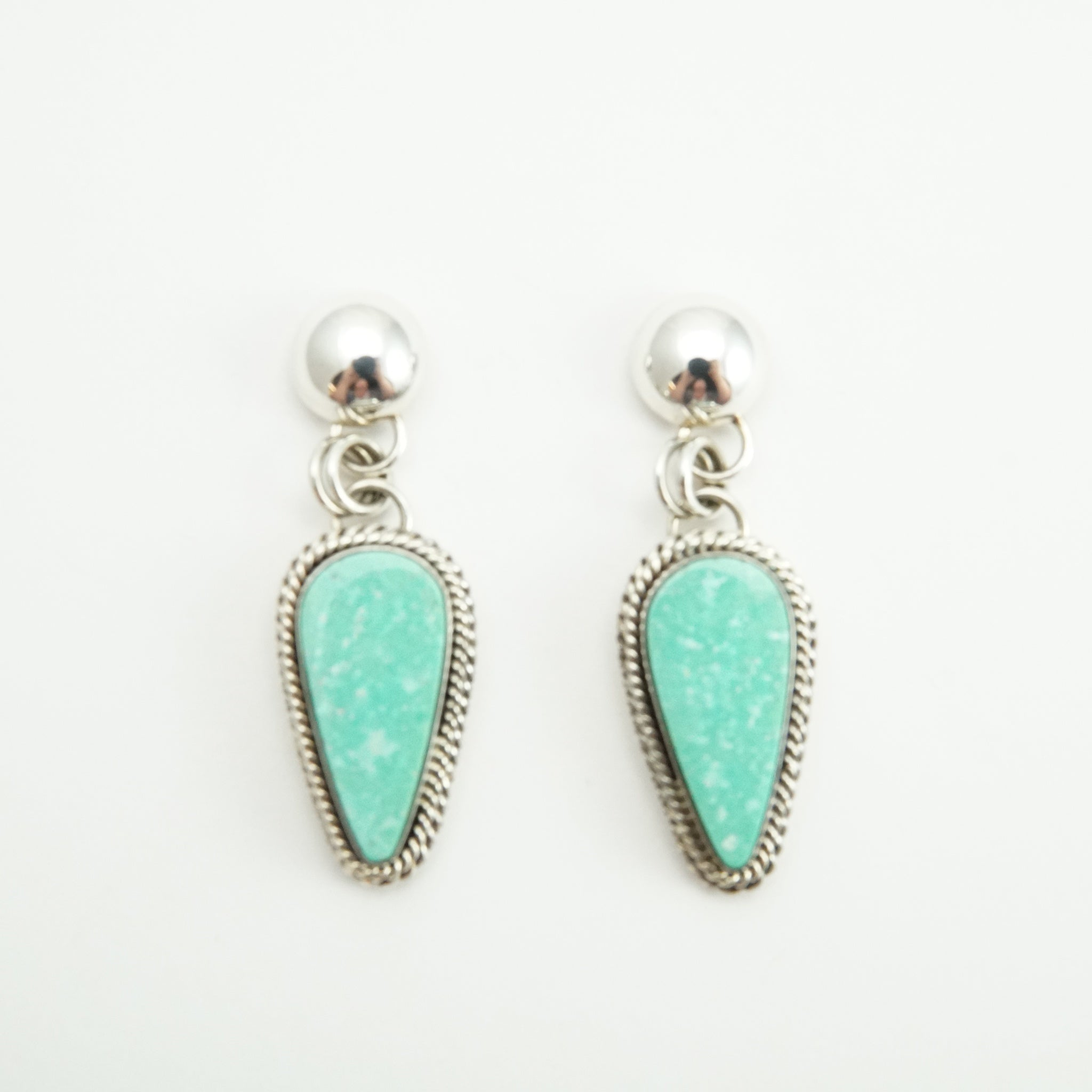 Kingman Turquoise Teardrop Earrings