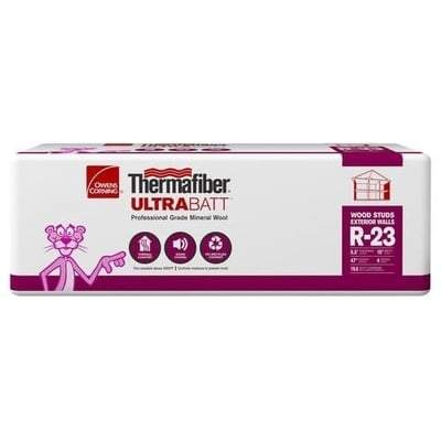 Owens Corning Thermafiber UltraBatt R-23 (All Sizes) 5.5 in x 15 in x 47 in (24 Bags) Owens Corning