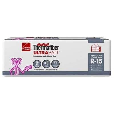 Owens Corning Thermafiber UltraBatt R-15 (All Sizes) 3.5 in x 16 in x 48 in (24 Bags) Owens Corning